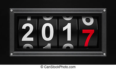New year 2017 counter - Design component of a counter dial...