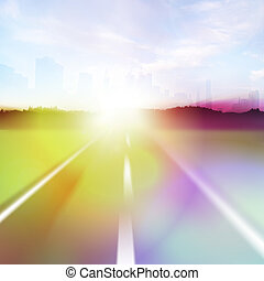 Colorful Highway Flare