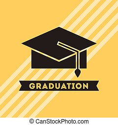 congratulations grad celebration card vector illustration...