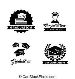 congratulations grad celebration card vector illustration...