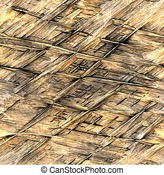 straw thatch background - background illustration of straw...