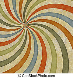 sixties style grungy sunburst swirl - sixties or early...