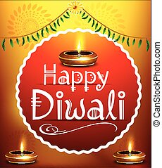 happy diwali festival background with deepak.eps - happy...