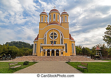 Orthodox Cathedral in Resita, Romania. - Orthodox Cathedral...