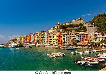 Porto Venere, La Spezia, Liguria, Italy - Colorful...