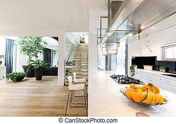 Open plan kitchen and living room - Spacious new villa...