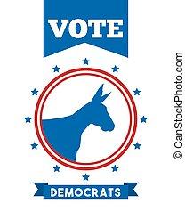 黨, 政治, 民主主義者, 動物