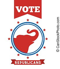 Republican political party animal vector illustration design