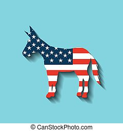 democrat political party animal vector illustration design