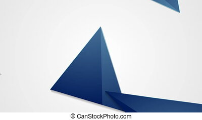 Blue grey corporate polygonal video animation