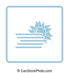 Fog icon. Blue frame design. Vector illustration.