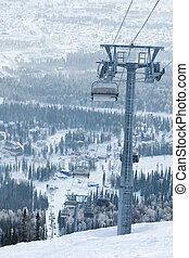 Winter entertainment - Image of high tower with ropes and...