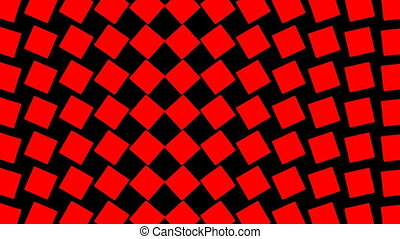 Motion background with moving geometric shapes (full HD...