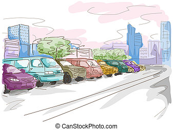 Parking Lot Illustration