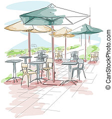 Outdoor Dining - Outdoor Tables and Chairs Setup