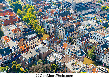 Utrecht. Aerial view of the city.