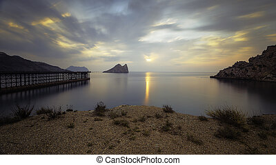 Bay of Hornillo at Aguilas, Murcia on the Costa Calida