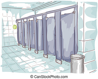 Public Toilet Illustration