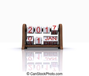 New year 2017 - Here comes the new year 2017