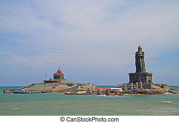 Swami Vivekananda Rock memorial and Thiruvalluvar statue...