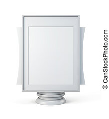 Mockup for advertising isolated on a white background. 3d...