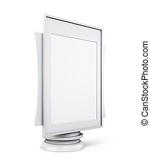 Mock up lightbox isolated on white background. 3d rendering....