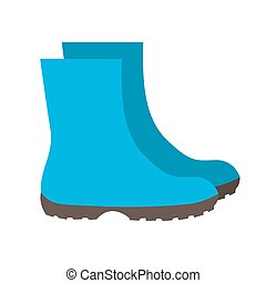 Insulated Rubber Boots Icon Vector Illustration EPS10
