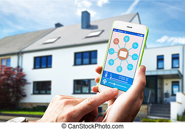 Smart Home Device - Home Control - adjusting the room...
