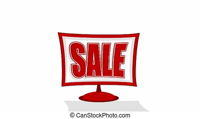 Video of a sale red sign