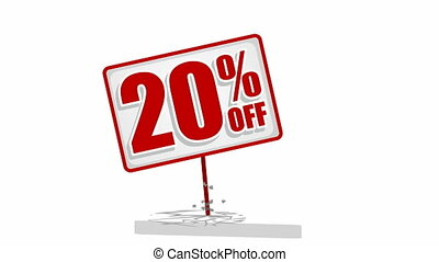 Video of 20 % discount sign