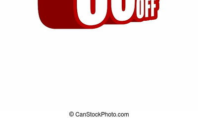 Video of 50 % discount jumping - Video of 50 % discount sign