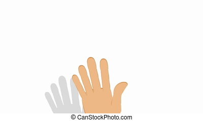 Hand gesturing on white - Video of a hand gesturing on white