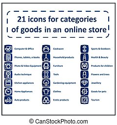 Icon set for sections Online Store
