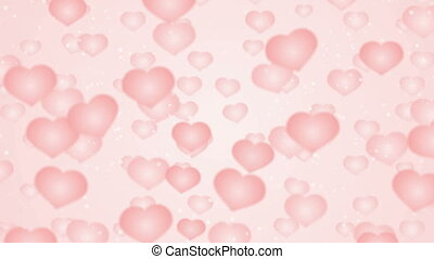 Background with flying hearts