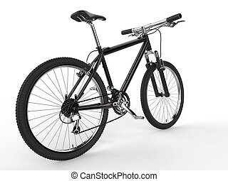 Modern black mountain bike
