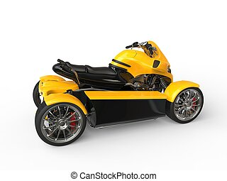 Modern yellow and black all terrain vehicle