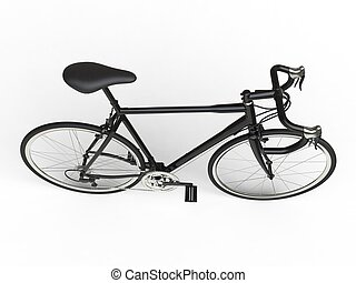 Sports race bicycle - top view