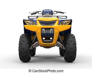 Awesome four - wheeler - front view closeup shot