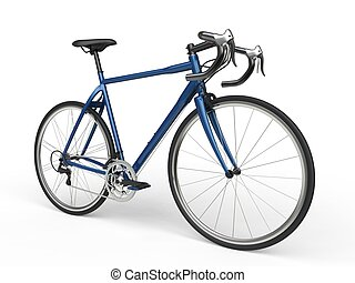 Blue sports race bicycles