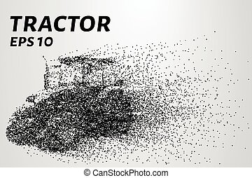 Agricultural tractor of the particles. Vector illustration -...