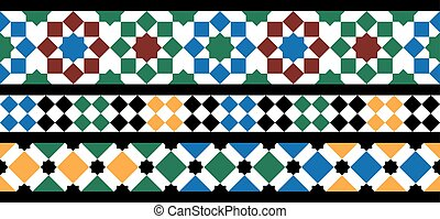 Moroccan mosaic seamless - Moroccan pattern as seamless...