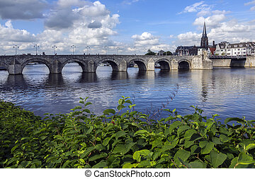 Maastricht - The Netherlands - View of Maastricht city...
