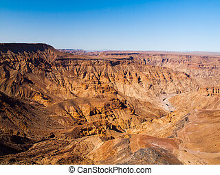 Fish River Canyon in Namibia - Dry and rocky Fish River...