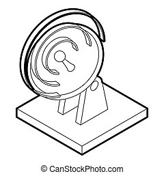 Satellite dish icon, outline style - icon in outline style...