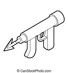 Underwater speargun icon, outline style - icon in outline...
