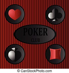 poker club - Logo for the poker club with the image of card...