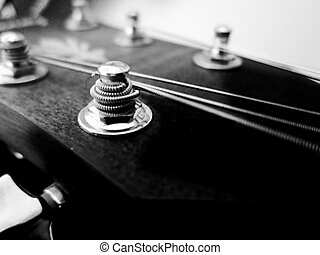 Guitar headstock in black and white - Stylish guitar...