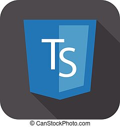 vector web development shield sign html5 javascript ts...