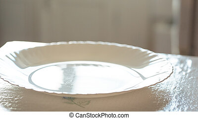 empty plate on the table - empty plate on the kitchen table...