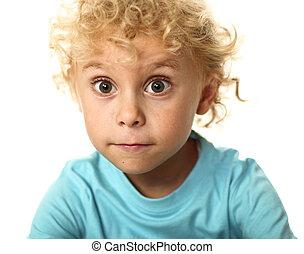 portrait of blonde white child